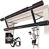 Sportstech Einzigartiges Kombi-Paket!4in1 Klimmzugstange inkl Dip Bar & Power Ropes, klappbare...