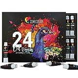 Zenacolor 24 Tuben Ölfarben Set 24 x 0,4 Oz (12ml) Ölfarben - Kunstzubehör in Profi Qualität...
