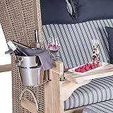 Mr. Deko Champagnerkühler für Strandkörbe - Sekt - Behälter - Kühler - Edel - EIS - Accessoire...