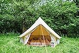 Bell Tent Canvas-Zelt, Bodenplane mit Reißverschluss, 100% Baumwolle, für Festival, Kinder,...