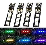 LHI 7 Farben RGB 5050 LED-Streifen-Nachtlicht-12V mit DIP-Schalter 30mm Draht für ZMR250 QAV250 FPV...