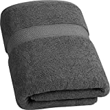 Utopia Towels - Badetuch groß aus Baumwolle 700 g/m² - Duschtuch, 90 x 180 cm (Grau)