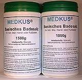 MEDKUSAN - Basisches Badesalz 2 x 1500g = 3000g