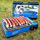 Angel Domäne Butangas Camping Grill Evergrill mit Transportkoffer | Gasgrill BBQ Barbeque...