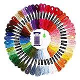 SOLEDI Stickgarn Embroidery Floss Multifarben Weicher Polyester Perfekt für Bracelets Stickerei...