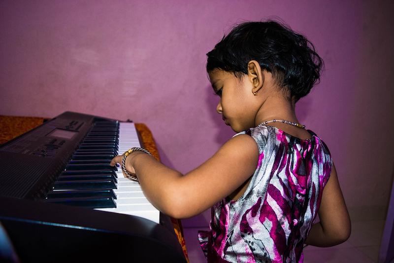 Kind Keyboard Mädchen