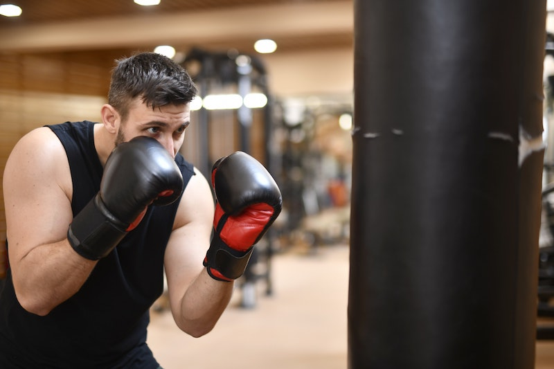 Boxer am Boxsack