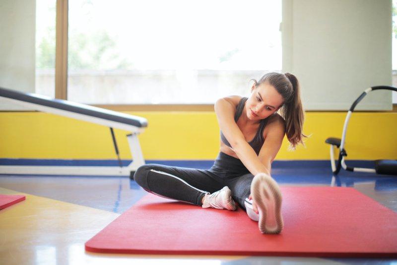 Yogapraxis in Fitnessstudio