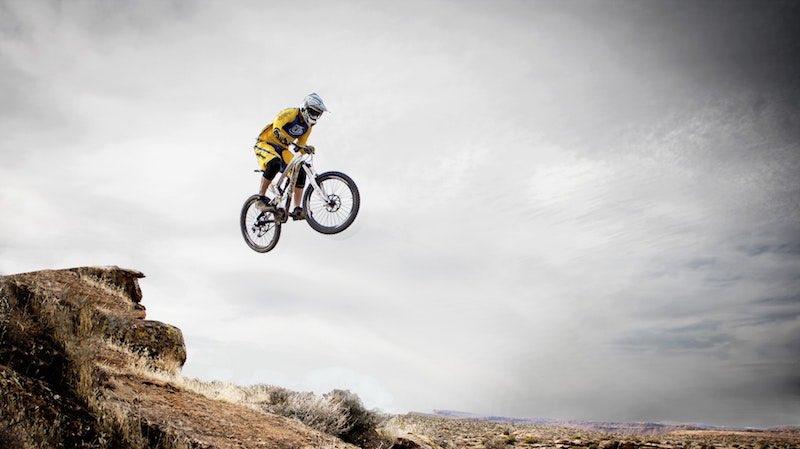 Ein Dirtbike ist ein Fahrradtyp für Sprünge