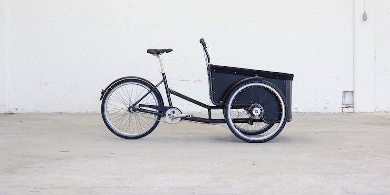 Ein Lastenrad ist ein Fahrradtyp für größere Transporte