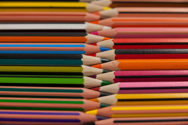 Buntstift Formen – dreikantige, sechskantige und runde Farbstifte