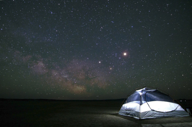 2-Personen-Zelt mit Sternenhimmel