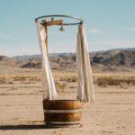 Dusche mitten in der Wüste