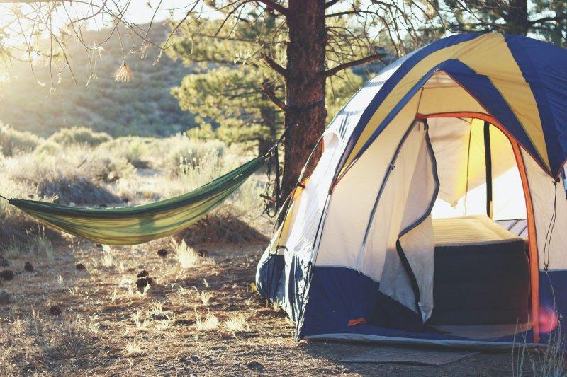 Schlafsack-Unterlage fürs Camping