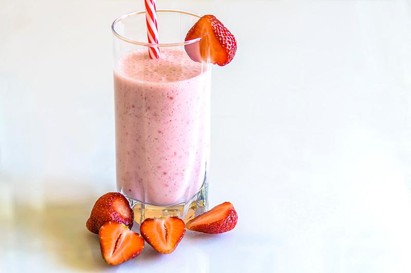 Diaet Shake mit Erdbeeren