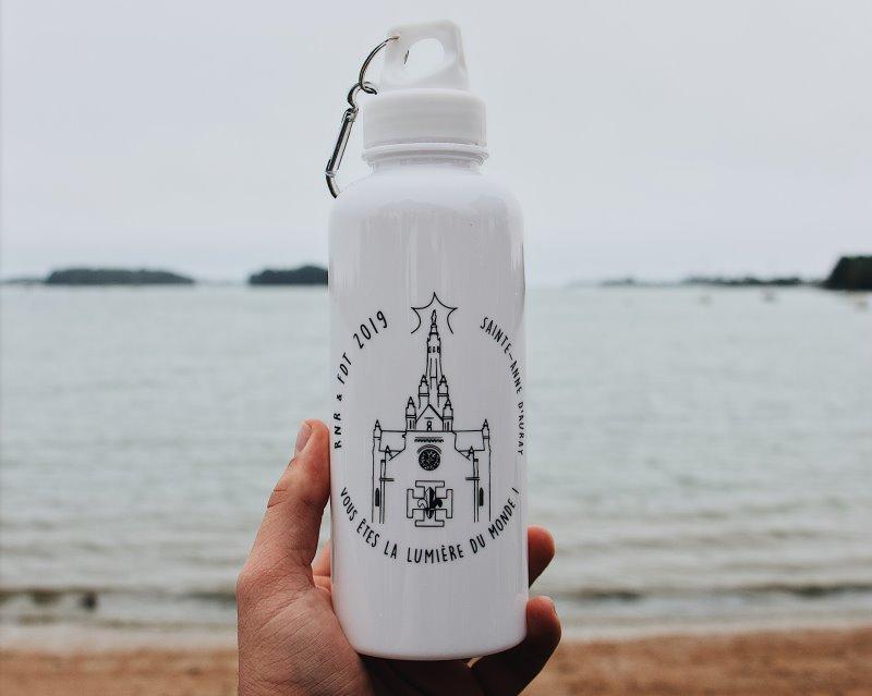 Edelstahl-Trinkflasche mit Spruch