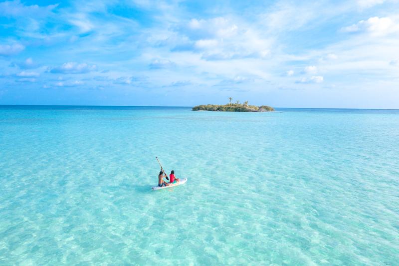 Drohnenbild auf den Malediven