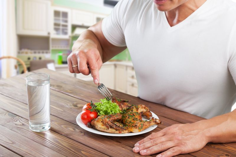 Muskelaufbau durch Ernährung