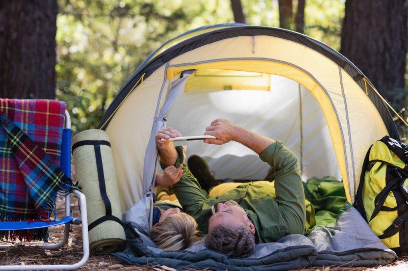 Familie auf Schlafsack in Zeilt