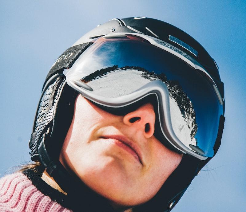 Skifahrer mit Skibrille