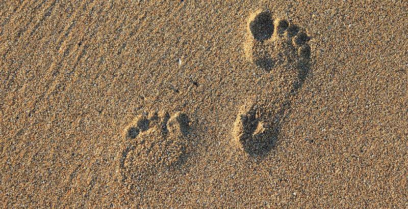 Fußabdruck zum Vergleich