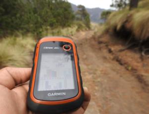 GPS-Gerät Garmin in Orange-Schwarz