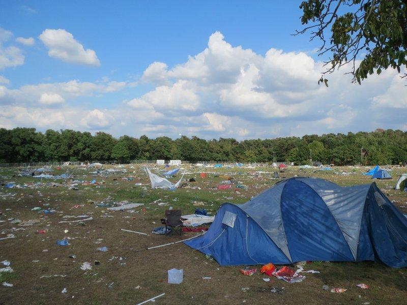 Festvial Müll Hinterlassenschaften