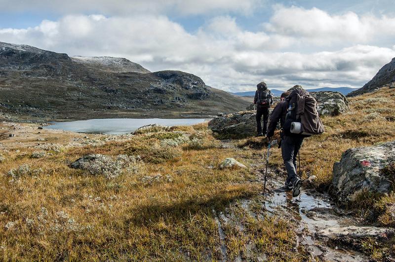 Wandern mit einem Trekkingrucksack