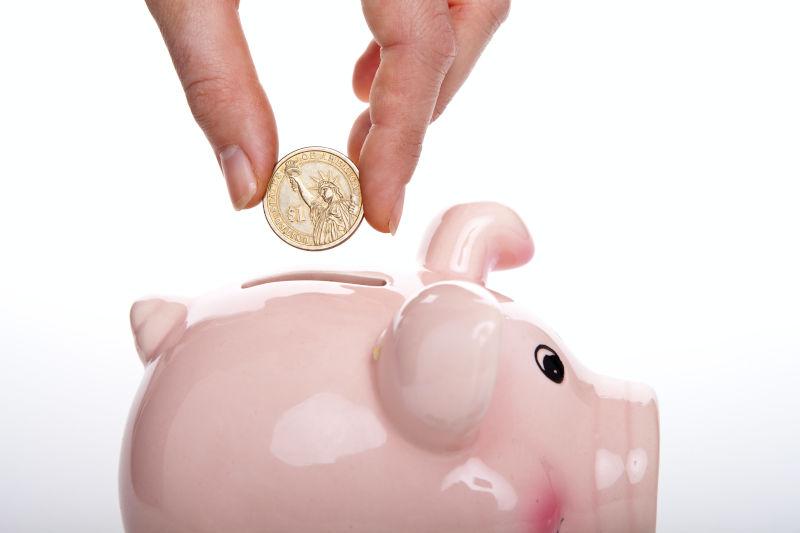 Budget im Sparschwein