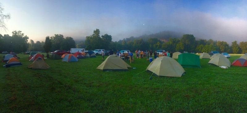 Camping bei einem Festival