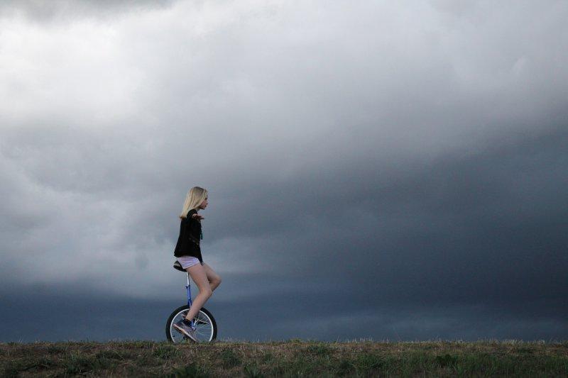 Das Einrad fahren testen