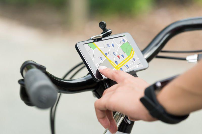 Fahrradcomputer mit Navigation