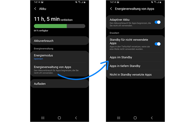 Smartphone Apps können viel Akku verbrauchen