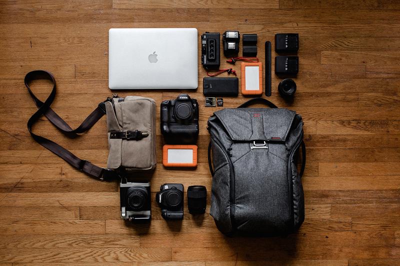 Inhalt eines Daypacks
