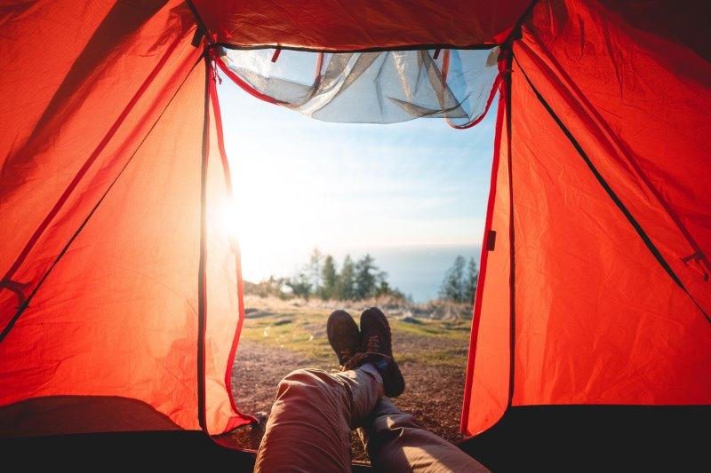 8-Personen Zelt mit Farbe