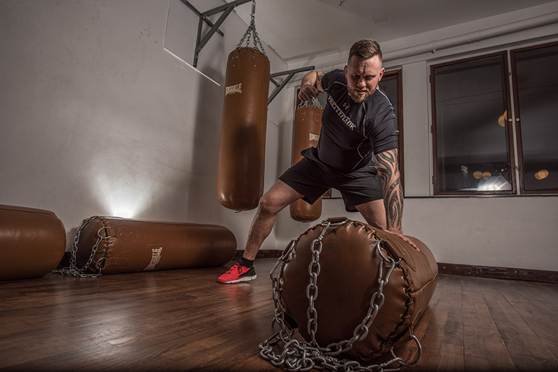Boxsack als Alternative zum Punchingball