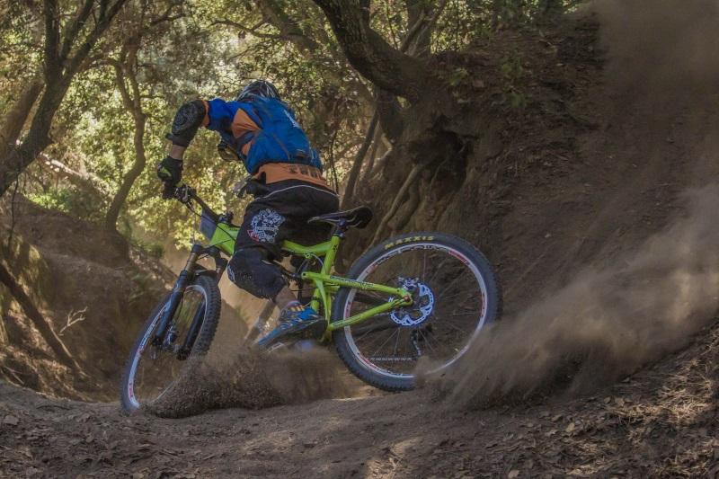 Fahrrad Bremsscheiben beim Mountainbike fahren