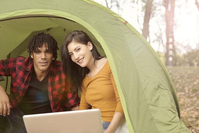 Camping im Zelt