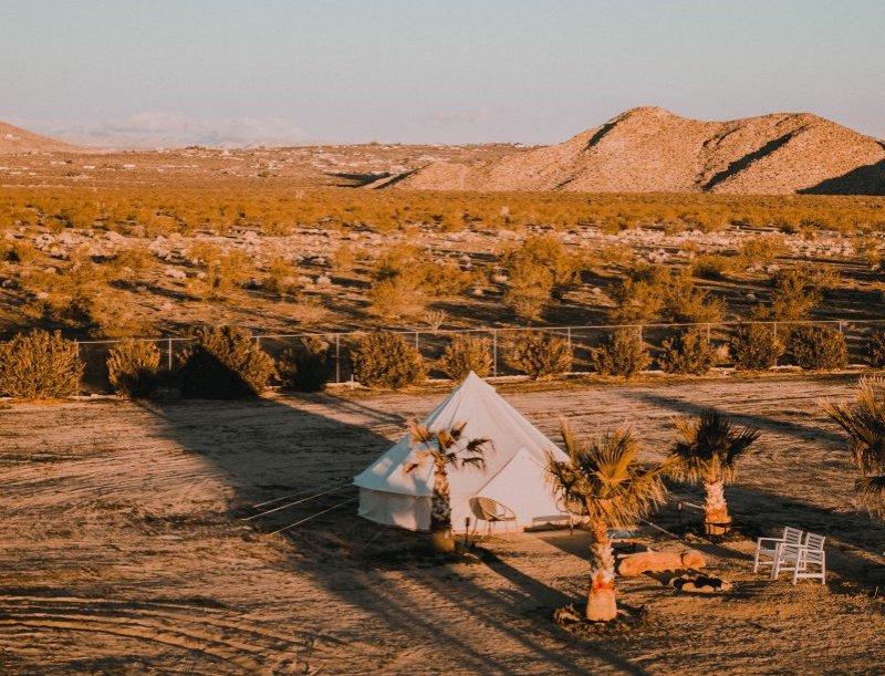 Sahara Zelt in der Wüste