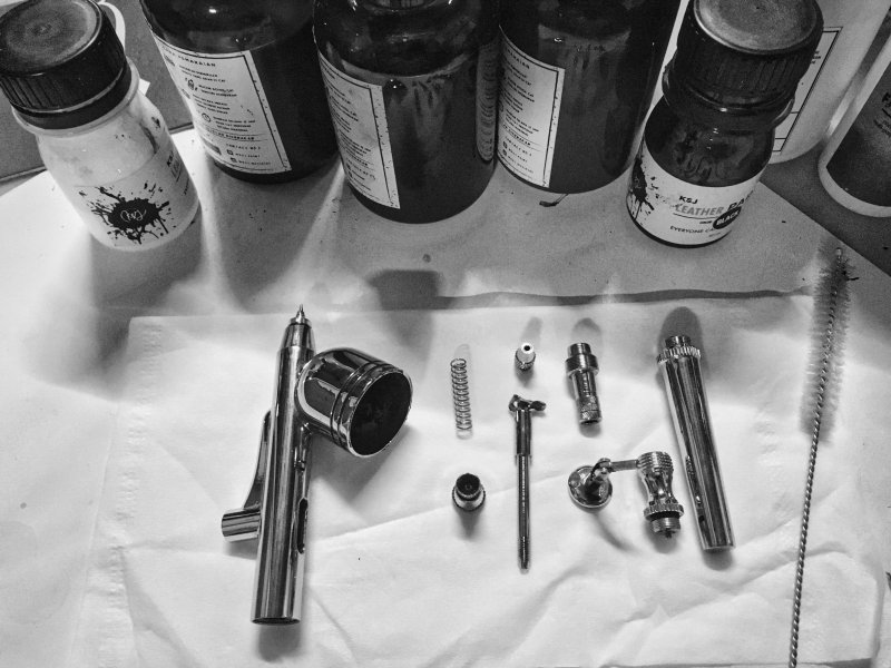 Airbrush Pistole Zubehör und Reinigung