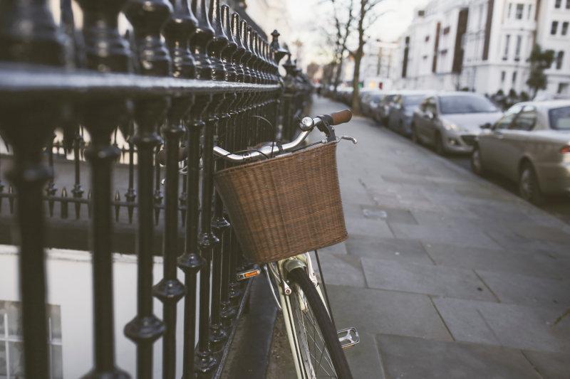 Großer Fahrradkorb für die Stadt