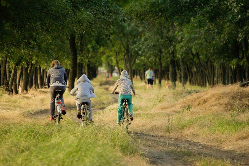 Familie Fahrrad Ausflug