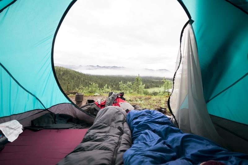 Der Ausblick aus dem Zelt