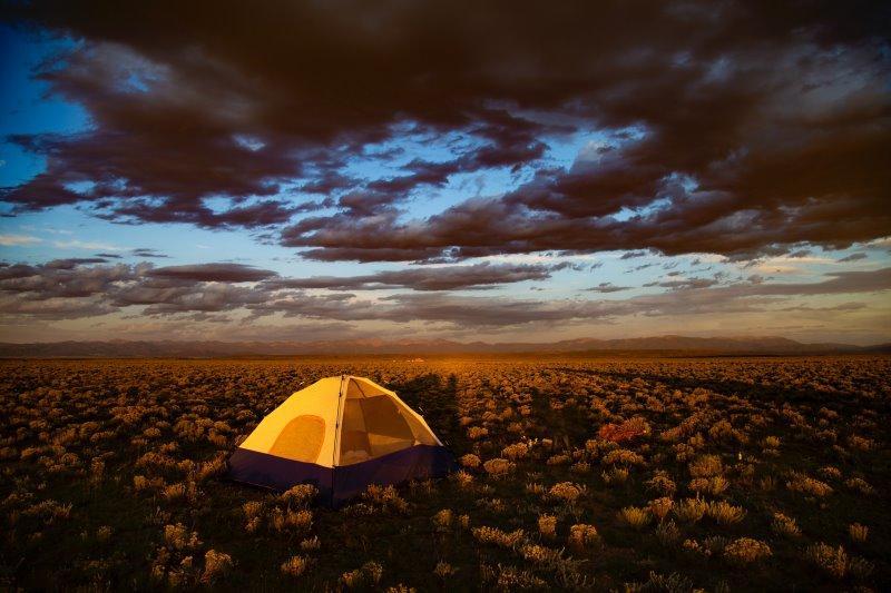 Das Ultraleicht-Zelt sollte an die Wetterbedingungen angepasst werden