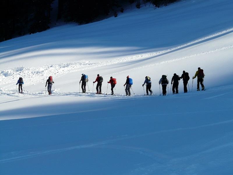 Wanderung im Winter mit beheizbaren Sohlen