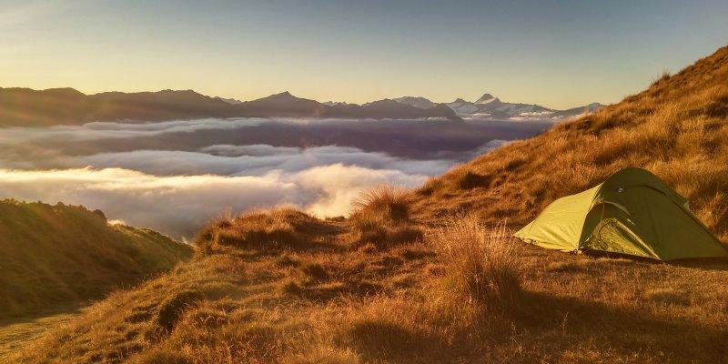 Zelt mit 5000mm Wassersäule beim Camping