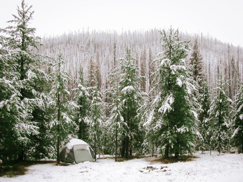 6 Personen Zelt im Winter