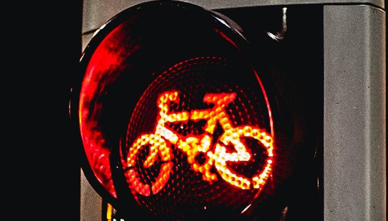 Rote Fahrradampel