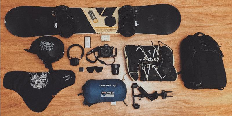 Ausrüstung rund um das Snowboard