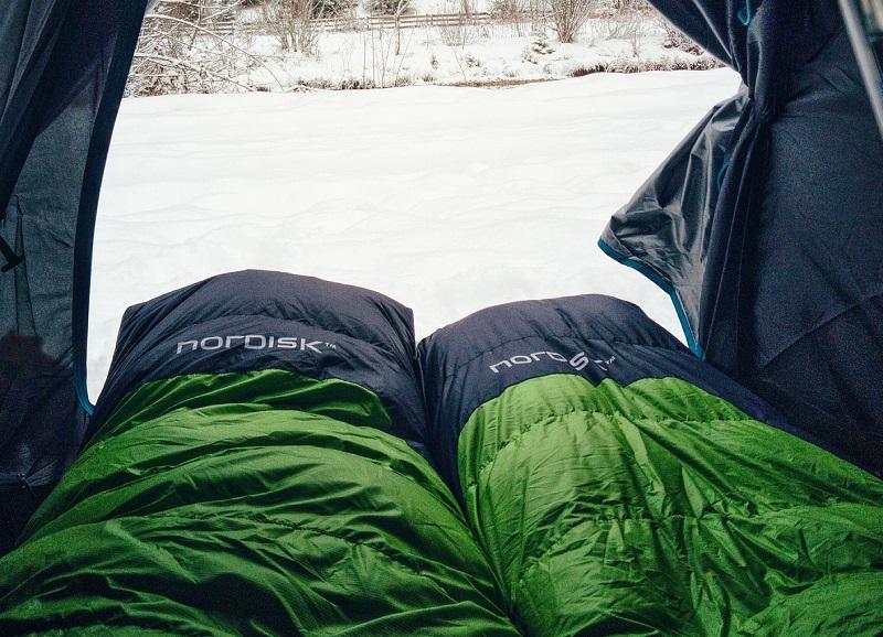 Trekking-Schlafsack Fußbereich